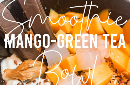 Mango green tea smoothie bowl recipe