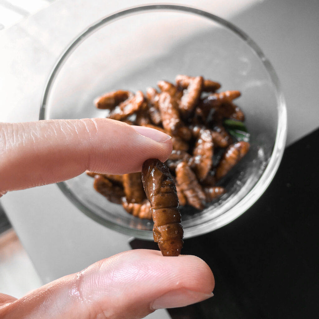 Eating worms
