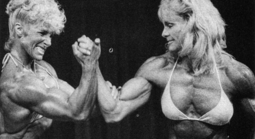 Arm wrestling woman From the 80s