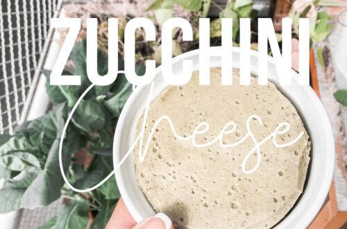 Diary free paleo vegan cheese made from zucchini